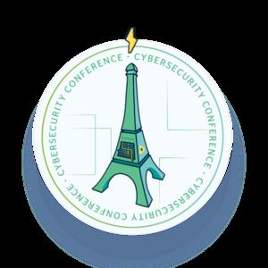 Mid 300 hip logo badge white